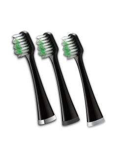 Triple Sonic Replacement Brush Heads, Black (STRB-3WB)